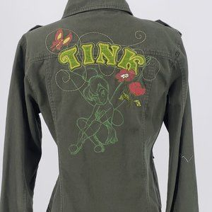 Disney Tinkerbell Cotton Jacket Green SZ M